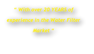 """ With over 20 YEARS of 
